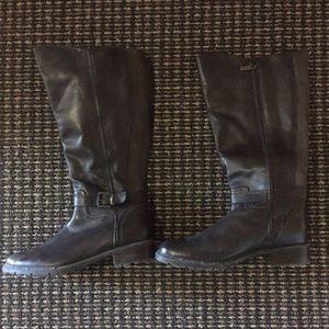 Blondo Brown Genuine Leather Waterproof Wide Boots